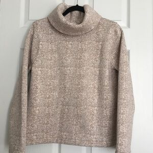 J.Crew Cowl Neck Thick Ivory Tan Sweater Size M